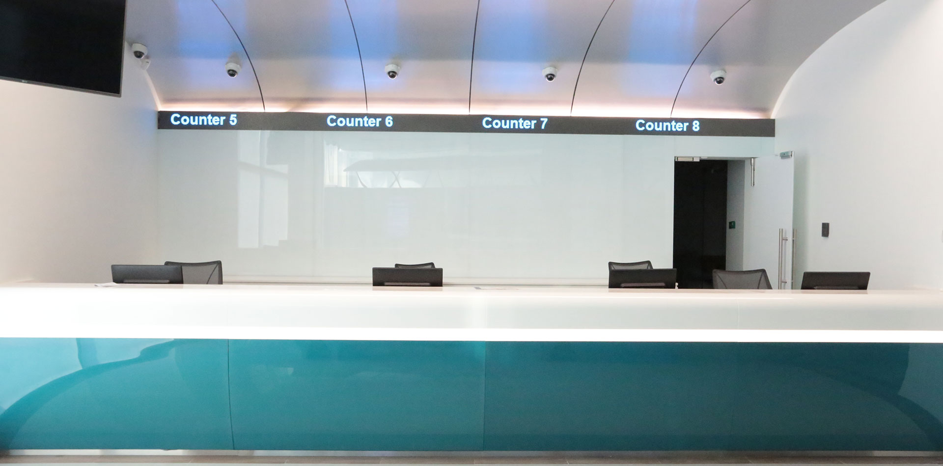 LED tickers for four separate counters