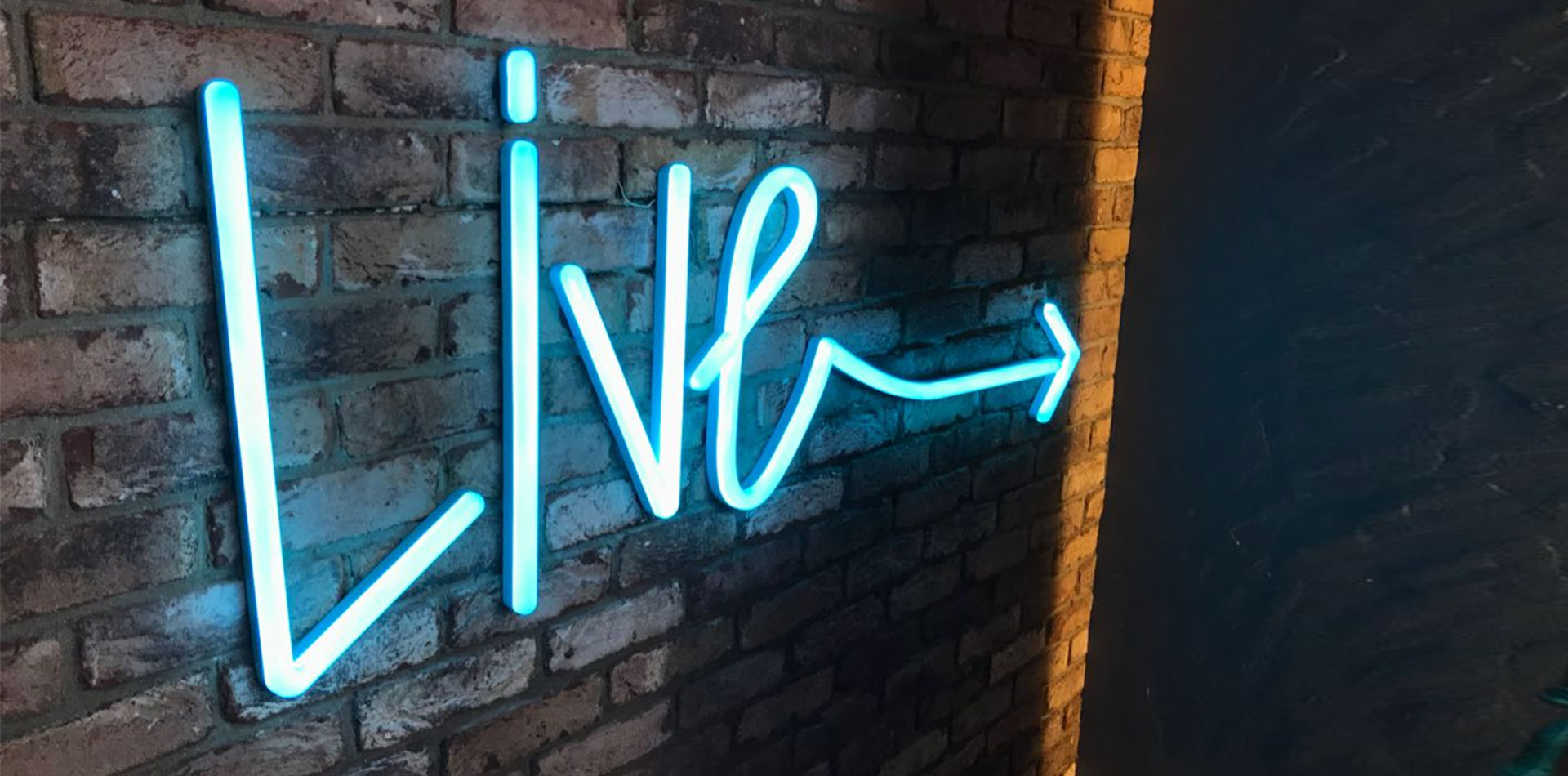 Neon Signage of Live