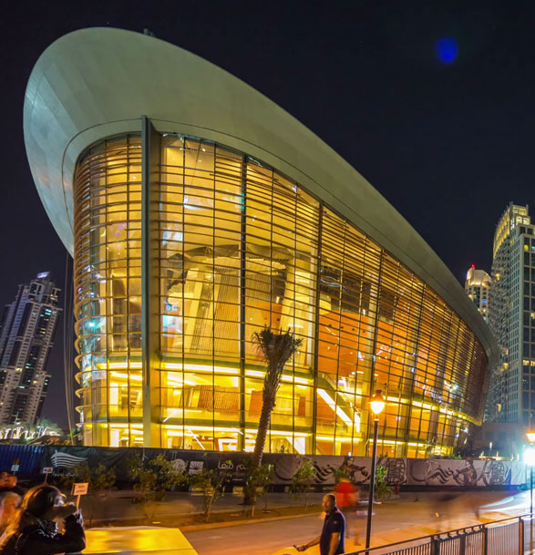 Outlook of Dubai Opera