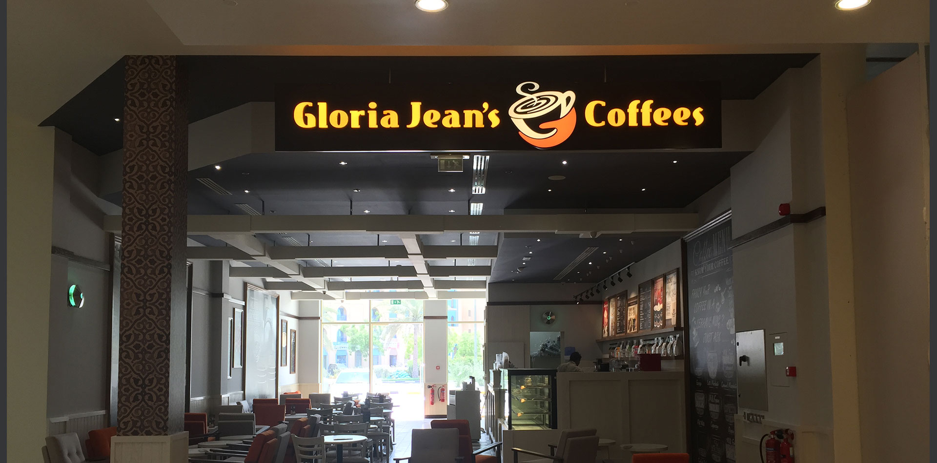 Retail Signage Installed For Gloria Jean S Coffee Joseph