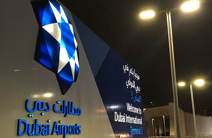 3D Acrylic Signage of Dubai Airport Entrance